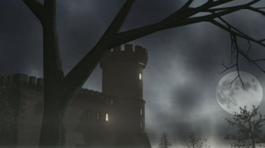 Haunted House 1 CGI-HD — Stock Video