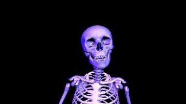 Skeleton Running Upper Body. Loop CGI HD — Stock Video