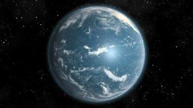 Earth (High End) Orbiting Day Night Lights Loop CGI HD — Stock Video