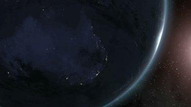 Earth (Highend) Sunrise Over Australia CGI HD — Stock Video
