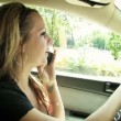 Talking on Cell Phone While Driving — Stock Video #12817757