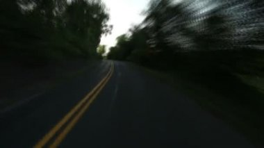 Time Lapse Driving Perspective — Stock Video