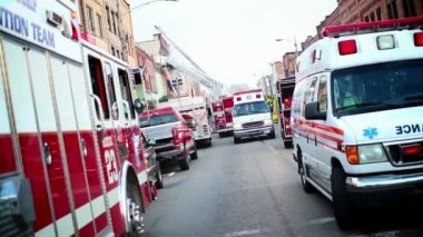 Emergency Vehicles — Stock Video