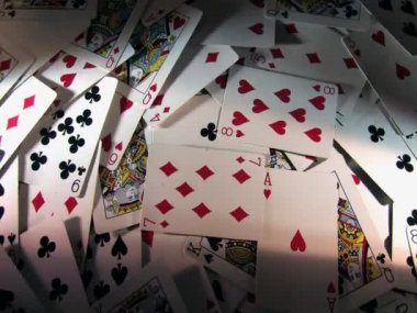 Rotating playing cards — Stock Video