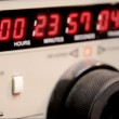 The timecode readout on a 3-4 U-matic deck — Stock Video