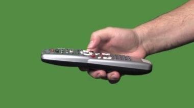 Green screen remote control — Stock Video