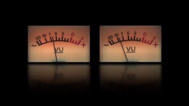Two audio meters — Stock Video