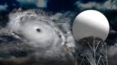 A doppler radar examines a hurricane — Stock Video