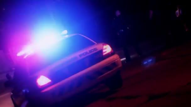 Coche de policía — Vídeo de stock
