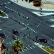 A timelapse shot of traffic crossing Las Vegas Boulevard — Stock Video #13491443