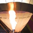 A hot air balloon gets inflated by propane gas — Stock Video
