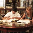 Students study in the library — Stock Video #13491762