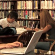 Students study in the library — Stock Video