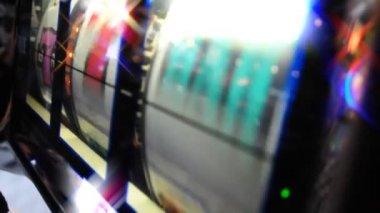 Close-up shot of a slot machine — Stock Video