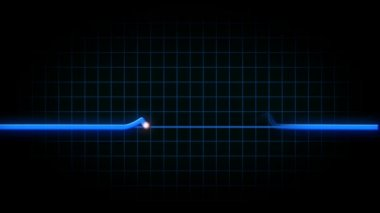 Un cuore animato monitor Ecg flatlines — Video Stock
