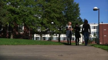 College students walk to class — Stock Video