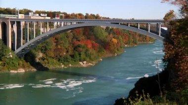 The Rainbow Bridge on the America-Canada International border — Stock Video