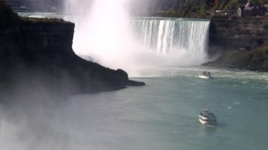 Niagara Falls in slow-motion — Stock Video