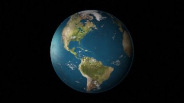 Het zoomen naar de verenigde staten van amerika. — Stockvideo