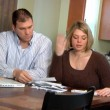 A husband and wife distressed over bills. — Stock Video #13832913