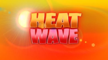 A heat wave title plate. — Stock Video