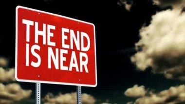 Wyrok dnia znak złowrogi nieba. — Wideo stockowe