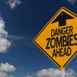 Zombie Warning Sign - Stock Photo