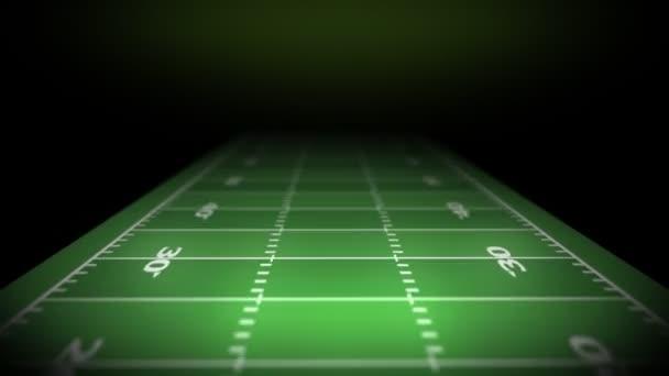 Fondo del campo de fútbol. — Vídeo de stock