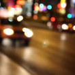 Defocused traffic on The Strip in Las Vegas, Nevada. - Stock Photo