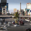 Traffic in Las Vegas, Nevada. - Foto Stock