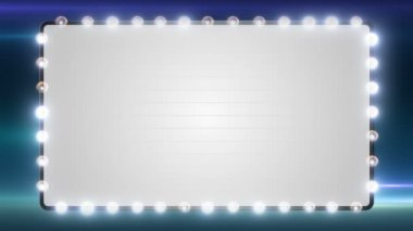A blank marquee sign with flashing lights.