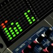 A professional audio mixer board. — Stock Video