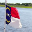 Stock Video: North Carolinflag.