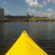 Kayaking on the Allegheny River — Stock Video