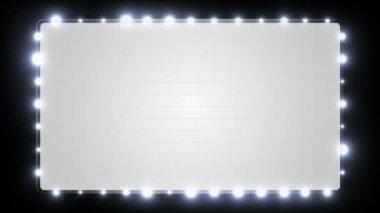 ışıkları yanıp sönen bir boş kayan yazı tabela. — Stok video