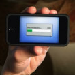 Downloading a file on a smartphone. — Stock Video