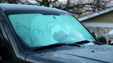 Timelapse Defrost Windshield — Stock Video