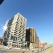 Driving in downtown Pittsburgh, PA.  Fisheye lens. — Stock Video