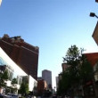 Stock Video: Driving in downtown Pittsburgh, PA. Fisheye lens.