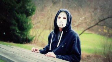 Masked Killer — Stock Video