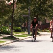 A young couple bike and sightsee on the bike trails — Stock Video #15768703