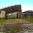 Heinz Field, home of the Pittsburgh Steelers, on the North Shore in Pittsburgh, PA. — Stock Video