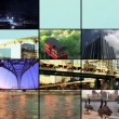 A composite of scenes and summer outdoor activities in and around Pittsburgh - Stock Photo