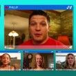 groep chat hangout — Stockvideo