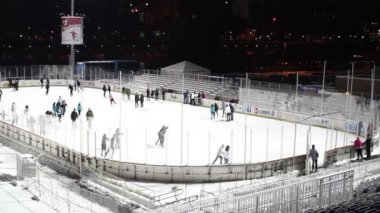 Pittsburgh Ice Rink — Stock Video