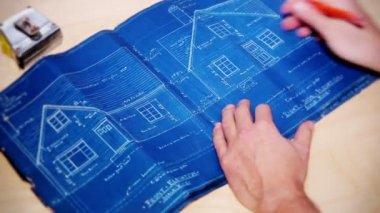 House Blueprints — Stock Video #18288121