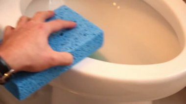 Cleaning the Toilet — Stock Video