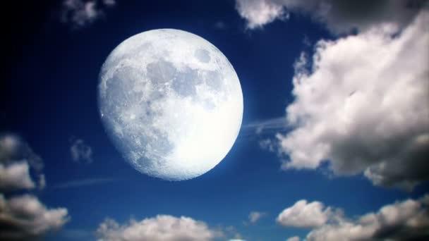 Lapso de tiempo de cielo de luna llena — Vídeo de stock