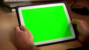 Tablet bilgisayar chroma key 2975 — Stok video