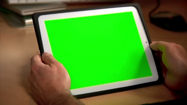Tablet Pc croma key 2975 — Vídeo de stock